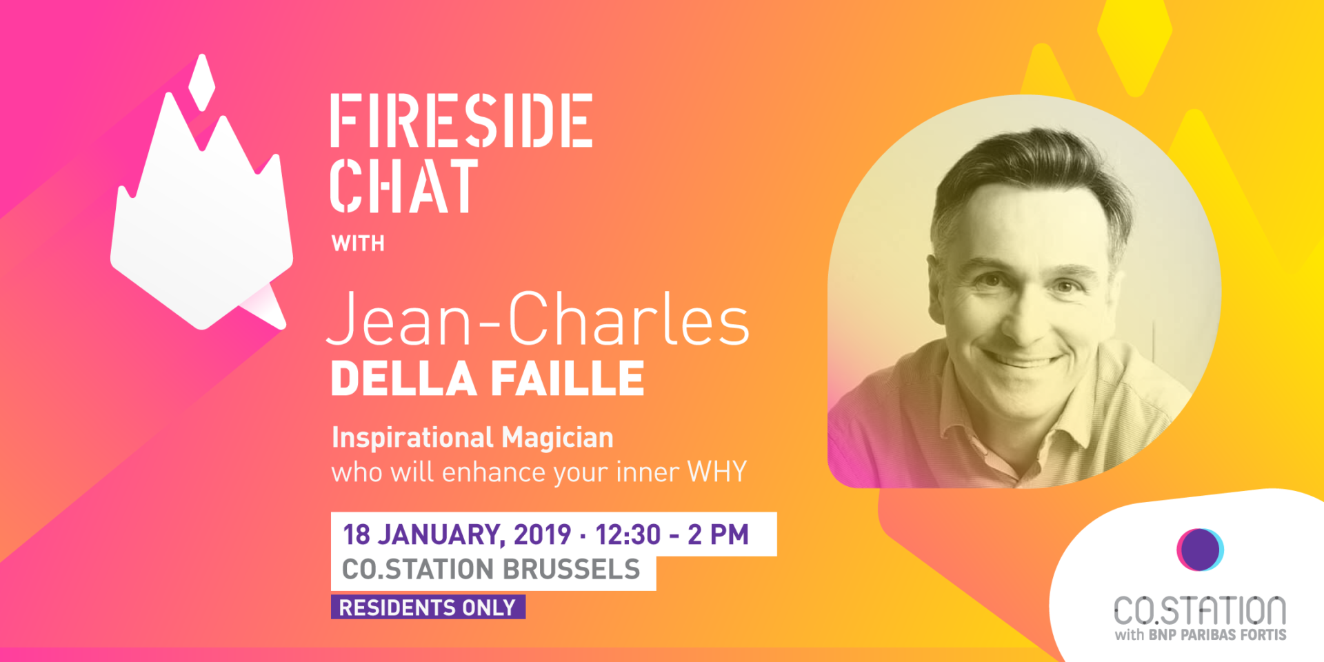 Co.Station Events | Fireside Chat with Jean-Charles della Faille