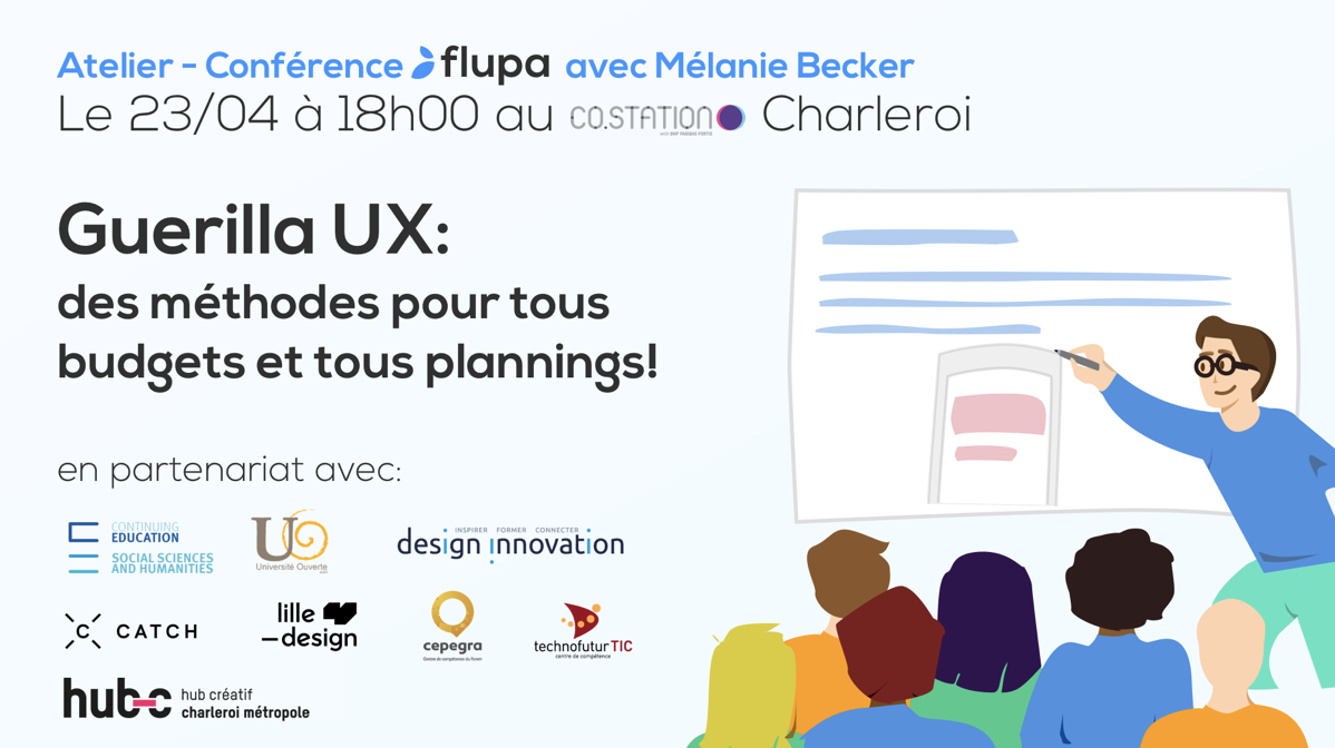 Co.Station Events |Guerilla UX workshop for all budget by Mélanie Becker