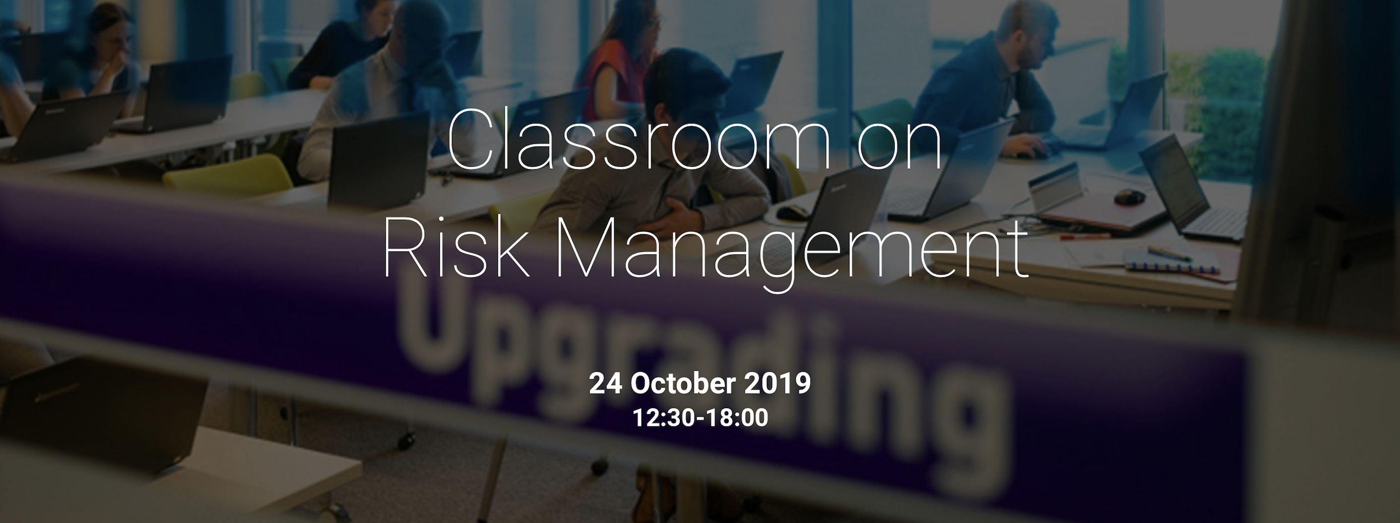 Co.Station Events | Classroom in Financial Risk Management