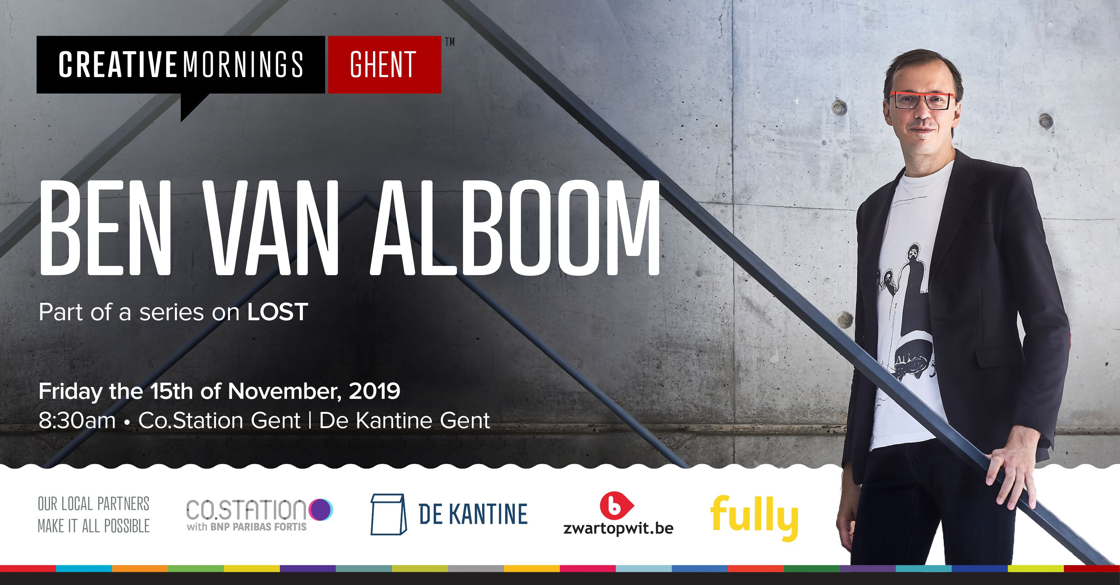 Co.Station Events | CreativeMornings/Ghent: Lost with Ben Van Alboom