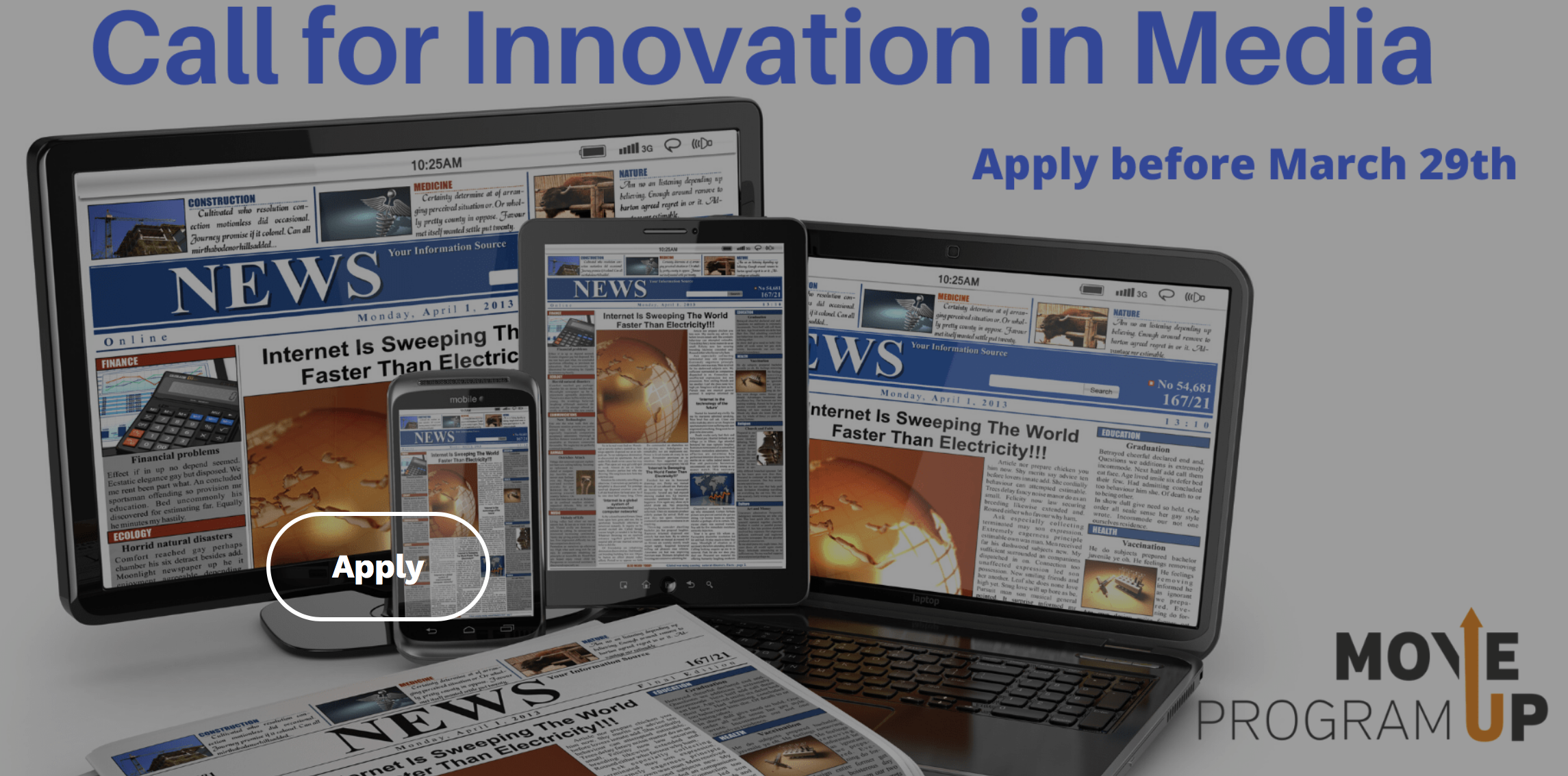 Move Up Program | Call for Innovation in Media
